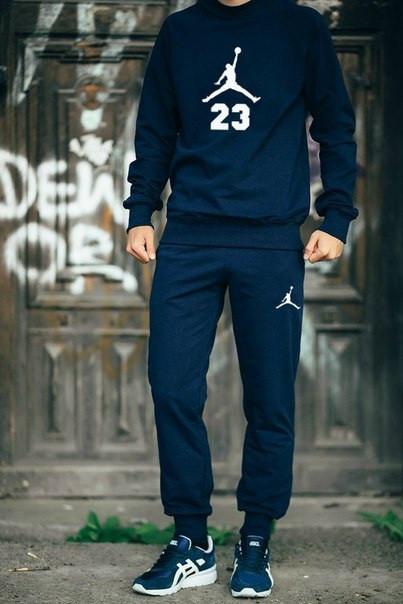 cf07118d42c3 Мужской Спортивный Костюм Jordan 23 Темно-синий — в Категории ...