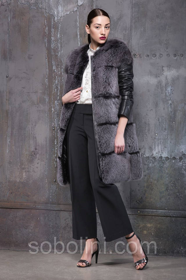 пальто чернобурка