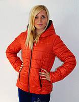 Женская куртка с капюшоном на осень синтепон