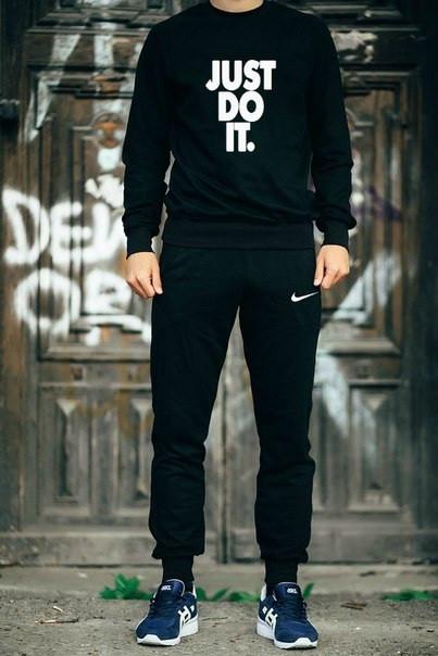 Мужской Спортивный костюм Nike Just Do It черный