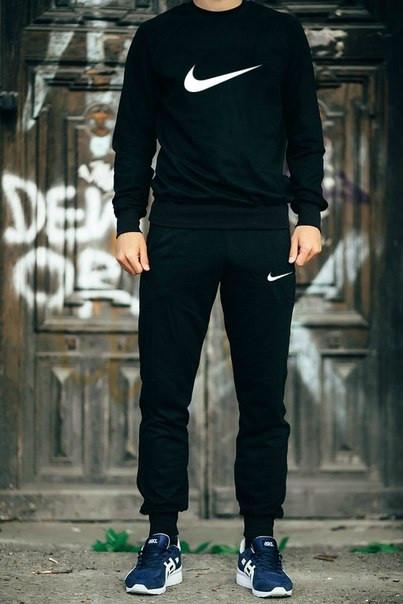 Мужской Спортивный костюм Найк черный