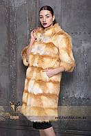 Длинная шуба из меха Украинской обесцвеченной лисы