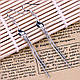 Сережки подвески спираль покрытие 925 серебро проба, фото 3