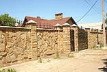 Заборы из дикого камня декоративные  Украина, фото 2