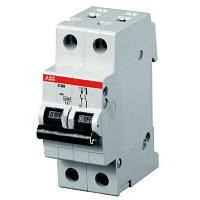 Автоматический выключатель АВВ SH202 2п В 16А