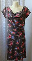 Платье женское летнее легкое модное стильное вискоза стрейч миди бренд Casual р.48-50 6363
