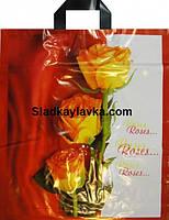 Пакет петля Цветы 400*600 (50 шт)