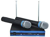 Радиомикрофон Sennheiser EW-100 система UHF, база и 2 радиомикрофона
