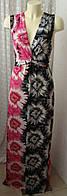 Платье женское летнее легкое струящееся яркое в пол бренд Tommy&Kate р.48 6365