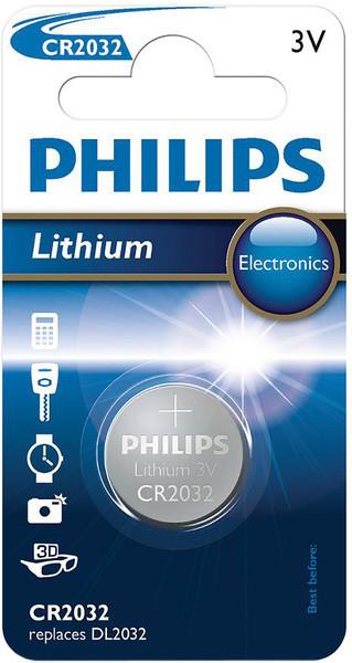 Батарейка литиевая PHILIPS CR2032