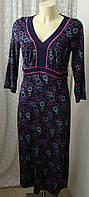 Платье женское летнее модное вискоза стрейч миди бренд Per Una р.46 6368