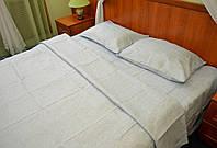 Простынь на резинке из льна 180х200 - серый натуральный цвет