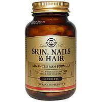 Витамины для волос Solgar, Skin, Nails & Hair, Advanced MSM Formula, 60 таблеток