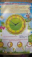 """НП Плакат (школа) """"Світ Поздоровлень А2""""/вчимося визначати годину"""