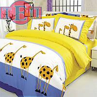 Постельное белье ТЕП 604 «Жирафы» бязь двуспальное