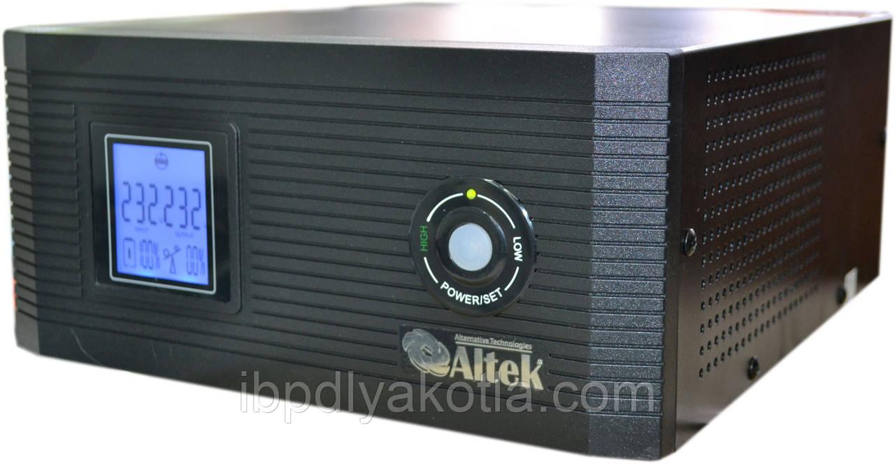 ИБП Altek AXL-1200 (1000Вт), для котла, чистая синусоида, внешняя АКБ