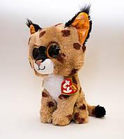"""37055 Мягкая игрушка TY Beanie Boo's Рысь """"Buckwheat"""" 25см"""