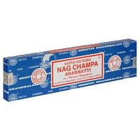 Благовонные палочки натуральные индийские Сать, Нагчапа, Саи Баба, Satya Nag Champa Sai Baba (15gm)