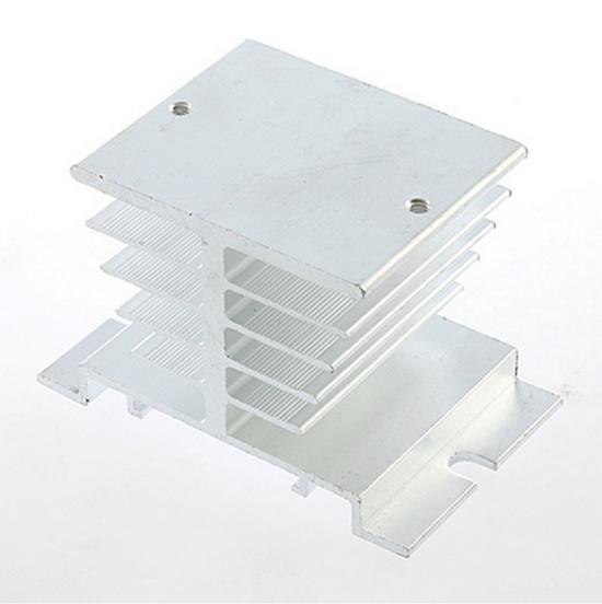 Алюминиевый радиатор для твердотельных реле SSR (серебристый) EE03 - Radio Store в Днепре