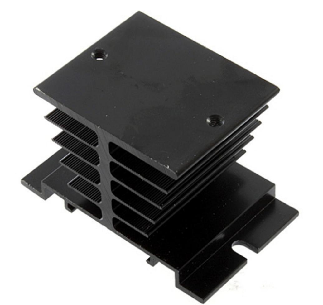 Алюминиевый радиатор для твердотельных реле SSR (черный) EE002 - Radio Store в Днепре