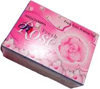 """Мыло """"ROSE FRESH"""" (75gm) успокаивающе и не вызывает аллергических реакций"""