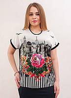 Стильная футболка  с розой