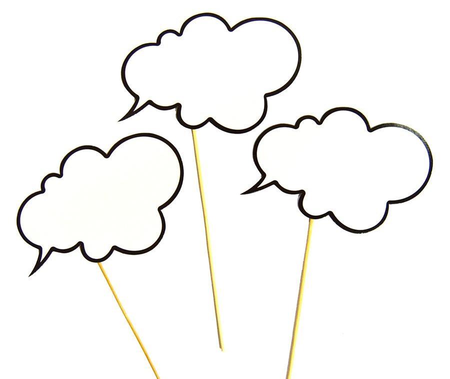 """Набор для фотосессии """"Речевое облако"""" 6 предметов"""