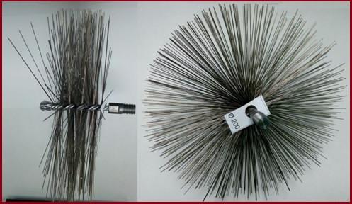 Щётка-ёрш стальная для чистки дымохода от сажи ∅300 мм