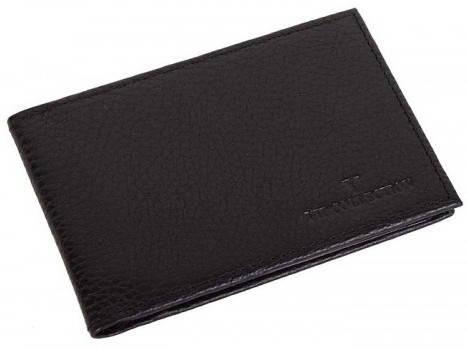 Практичная кожаная обложка для карточек Vip Collection 11A flat черный