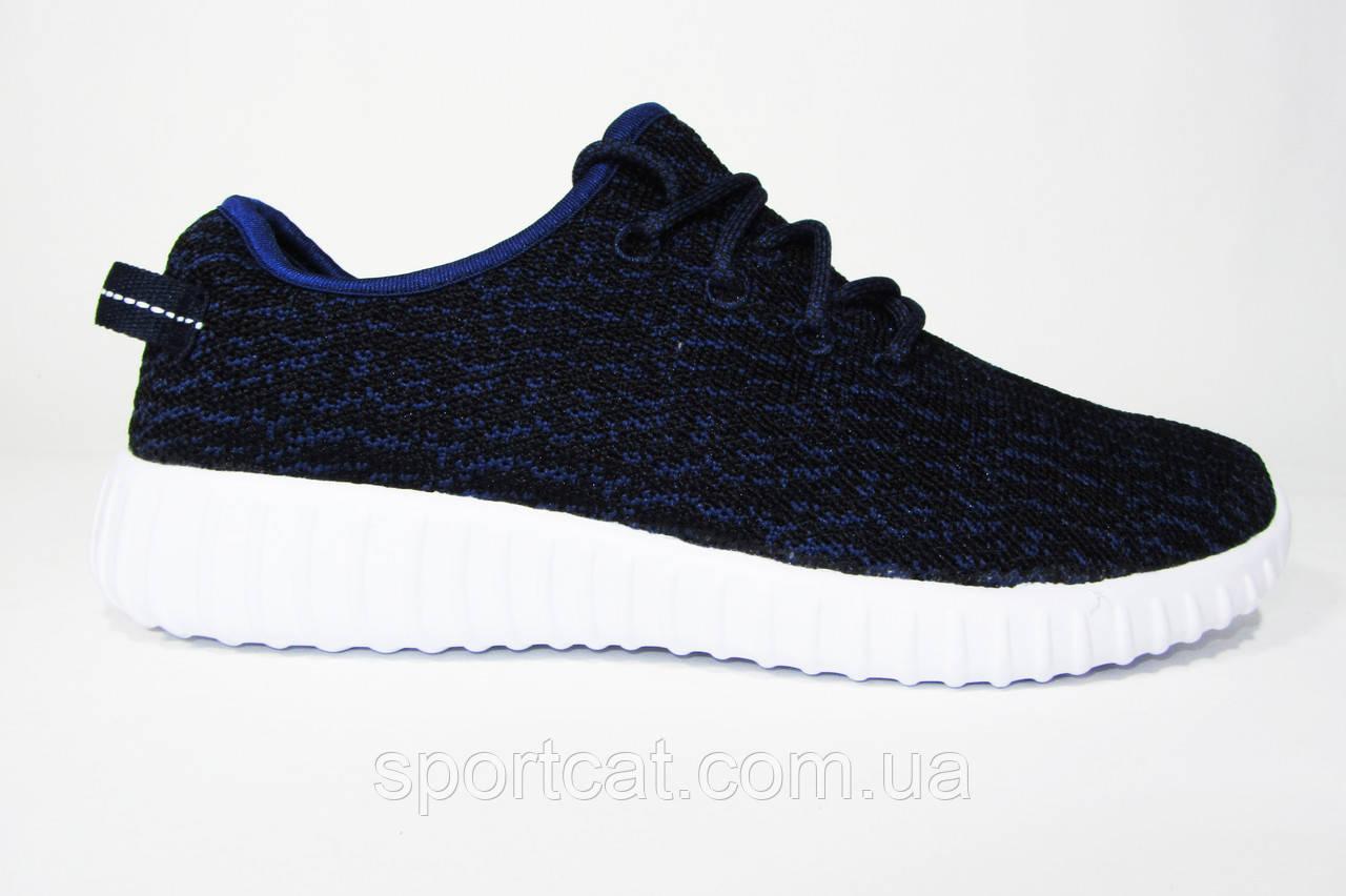 420f2c1cc14f Кроссовки Adidas Yeezy Boost 350 Low, текстиль, черные с синим, Р ...