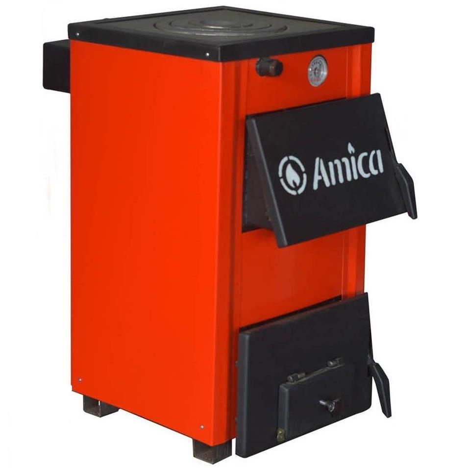 Отопительный котел на твердом топливе Amica Optima (Амика Оптима) 18P (с варочной поверхностью)