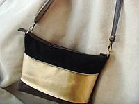 Комбинированая сумка из  натуральной кожи  ,производитель Украина .