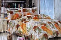 Постельное белье двуспальное Fashion Casa с цветными перьями