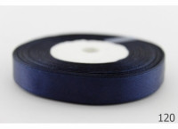 Лента атлас 0,5 см тёмно-синий. Заказ от 5 м