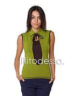 Блуза трикотажная зеленый, фото 1
