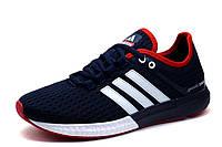 Кроссовки мужские Adidas Gazelle Boost, текстиль, темно-синие, фото 1