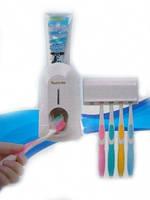 Подставка для зубных щеток с выжимателем для зубной пасты, фото 1