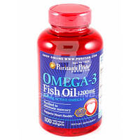 PURITAN'S PRIDE OMEGA-3 FISH OIL DOUBLE STRENGTH 1200 MG 90 SOFTGELS