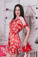 Женский халатик из стрейчевого  атласа, фото 1