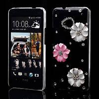 """Чехол ручной работы на HTC One M7 801e """"Цветочные кристаллы"""""""
