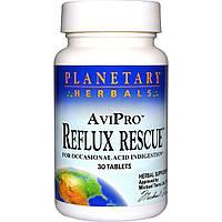 Спасение от Рефлюкса, Planetary Herbals, AviPro, 30 таблеток