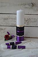 Свадебные свечи Готическая Сирень