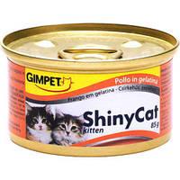 Консервы Gimpet ShinyCat Kitten с курицей  для котят, 70 гр.