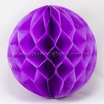 Бумажный шар-соты, сиреневый, 40 см