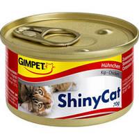 Консервы Gimpet Shiny Cat с курицей для котов 70 гр., фото 1
