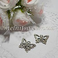 Подвески бабочки,  серебро