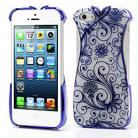 "Чехол накладка на Apple iPhone 5 ""Платье"", синее"