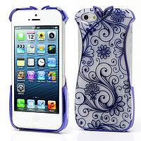 Женский пластиковый чехол на Apple iPhone 5, Синее платье