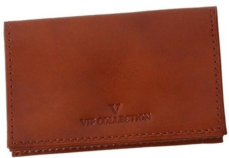 Кожаный футляр для карточек Vip Collection 14.C.NP коньячный