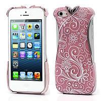 """Чехол накладка на Apple iPhone 5 """"Платье"""", персиковое"""